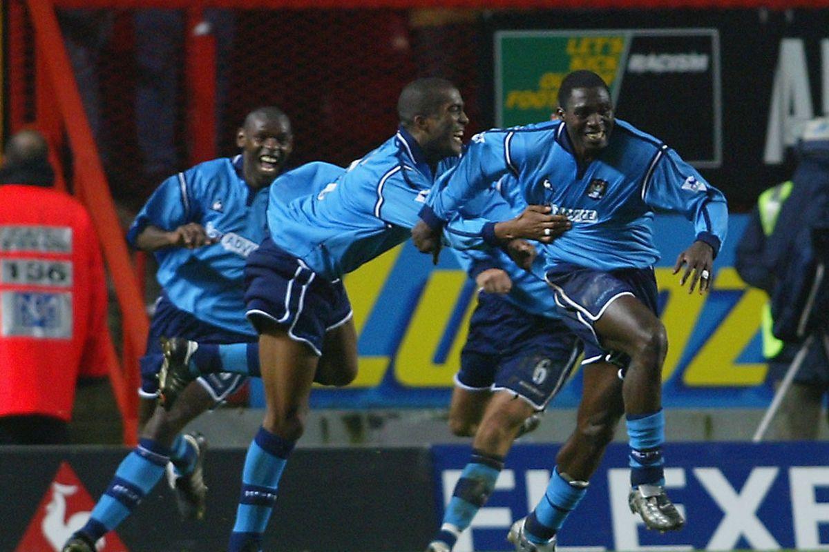 Foe celebrates scoring second