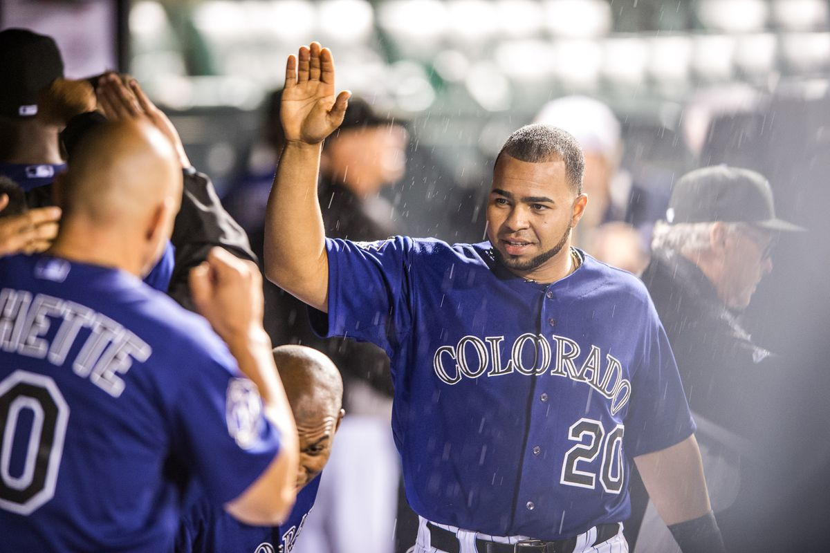 Wilin Rosario and the Rockies look to stay hot against the Padres.