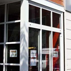 Amsterdam Falafelshop exterior; no sign installed yet
