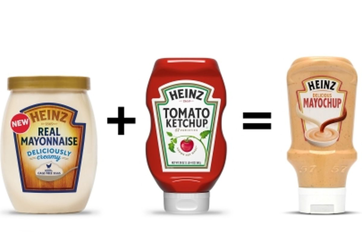 The Heinz mashup of mayonnaise and ketchup, branded as Mayochup, was launched in 2018.