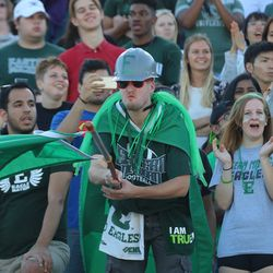 The Eastern Michigan student section