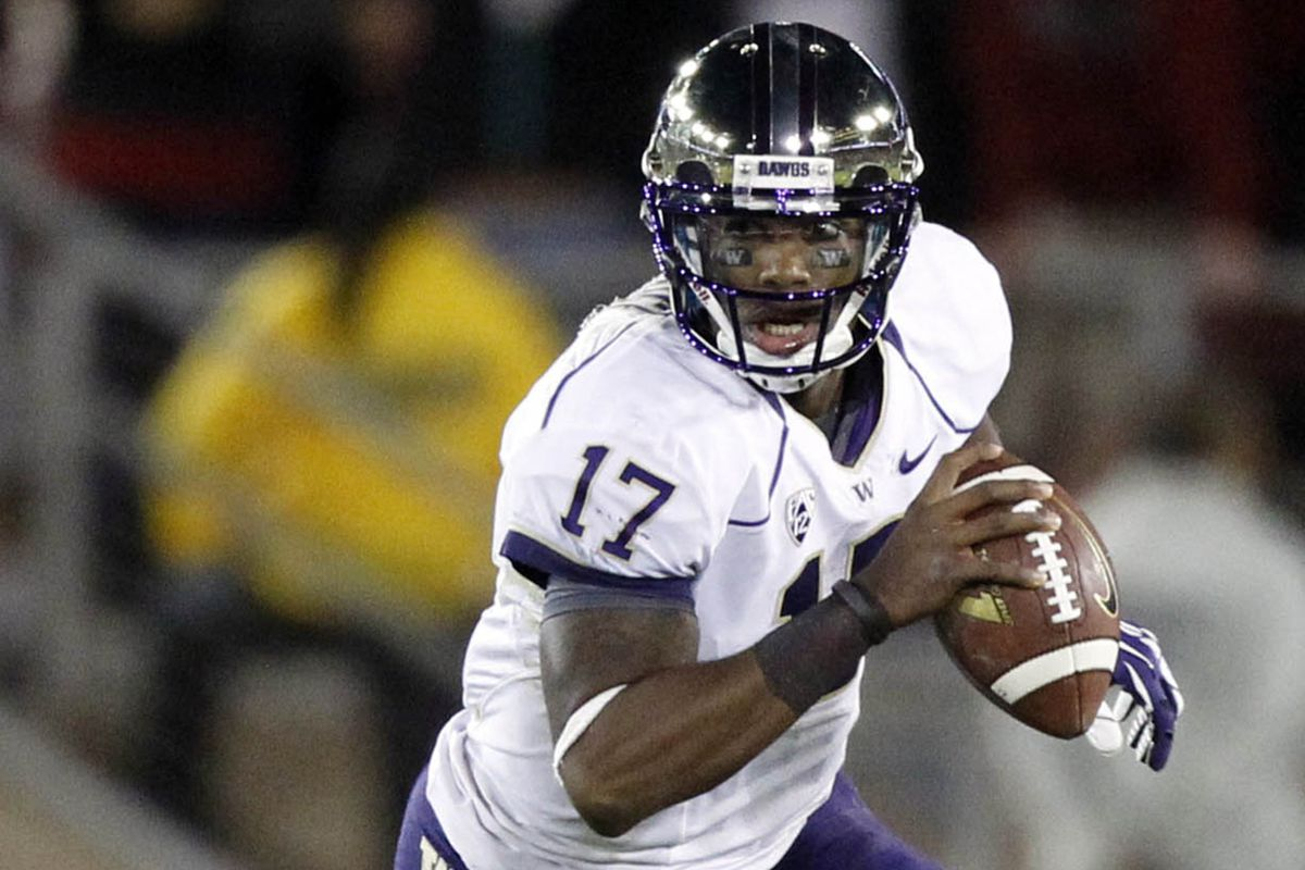 Keith Price will look to lead Washington to their first win against Oregon in a decade Saturday in Seattle.