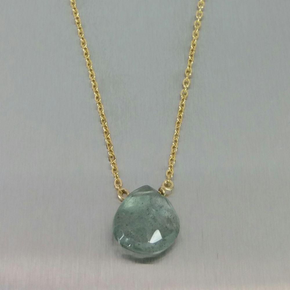 Kyle Chan Design Green Moss Aquamarine Necklace, $55