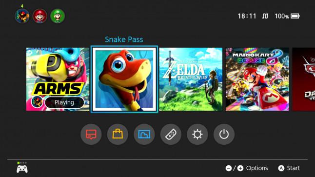 snake pass logo on home menu