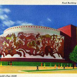 "Postcard of the Food Building via <a href=""http://www.flickr.com/photos/shookphotos/4254505300/"">Flickr/Shook Photos</a>."
