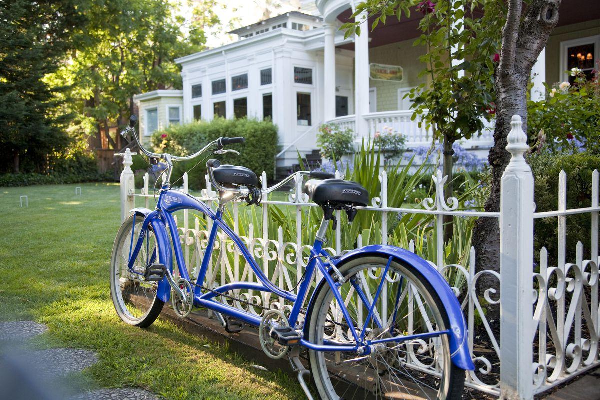 Bike in Gardens, Churchill Manor Inn, Napa, California