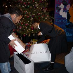 David Barton helps Marc Jacobs bring in all the toys