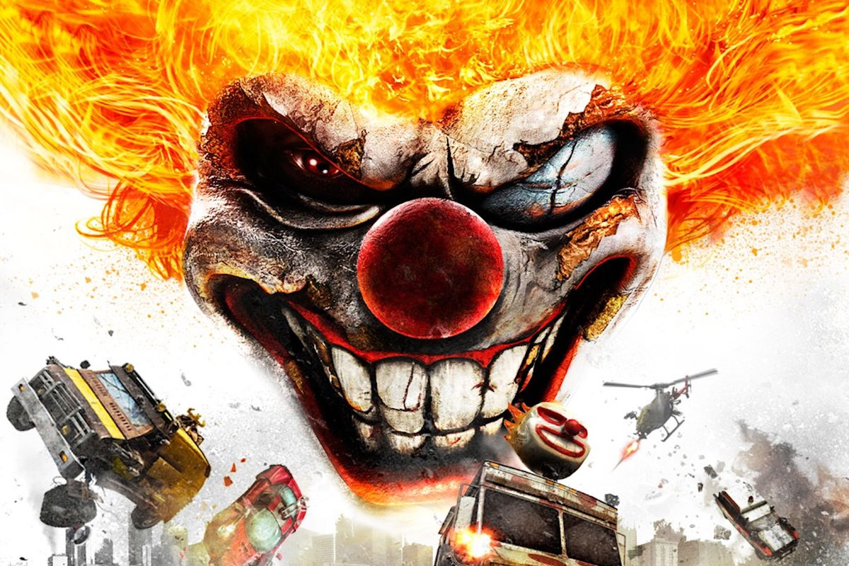 Artwork from Twisted Metal (2012), featuring Sweet Tooth