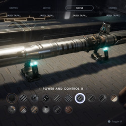 Power and Control 2 lightsaber sleeve