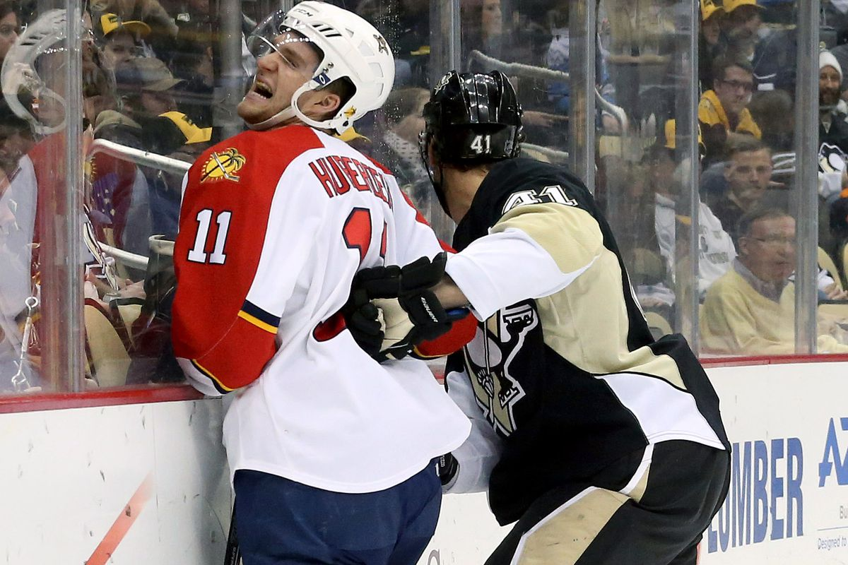 Huberdeau really sums up tonight's contest with a picture worth 1,000 words.