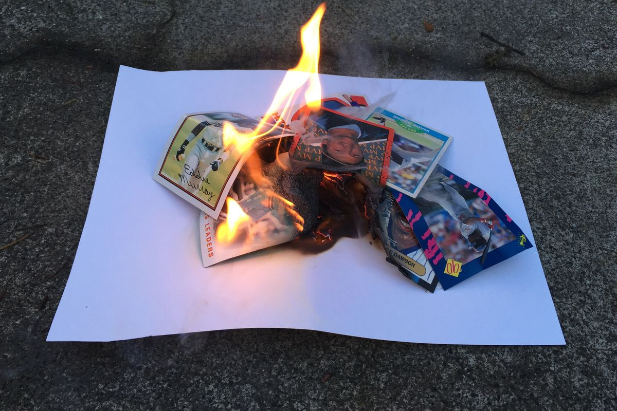 tens of cents up in flames