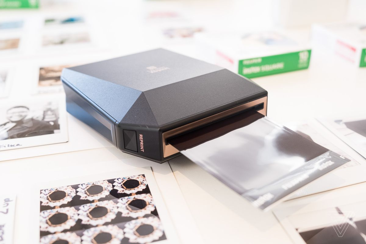fujifilm made a mobile printer for its new square format film the verge. Black Bedroom Furniture Sets. Home Design Ideas
