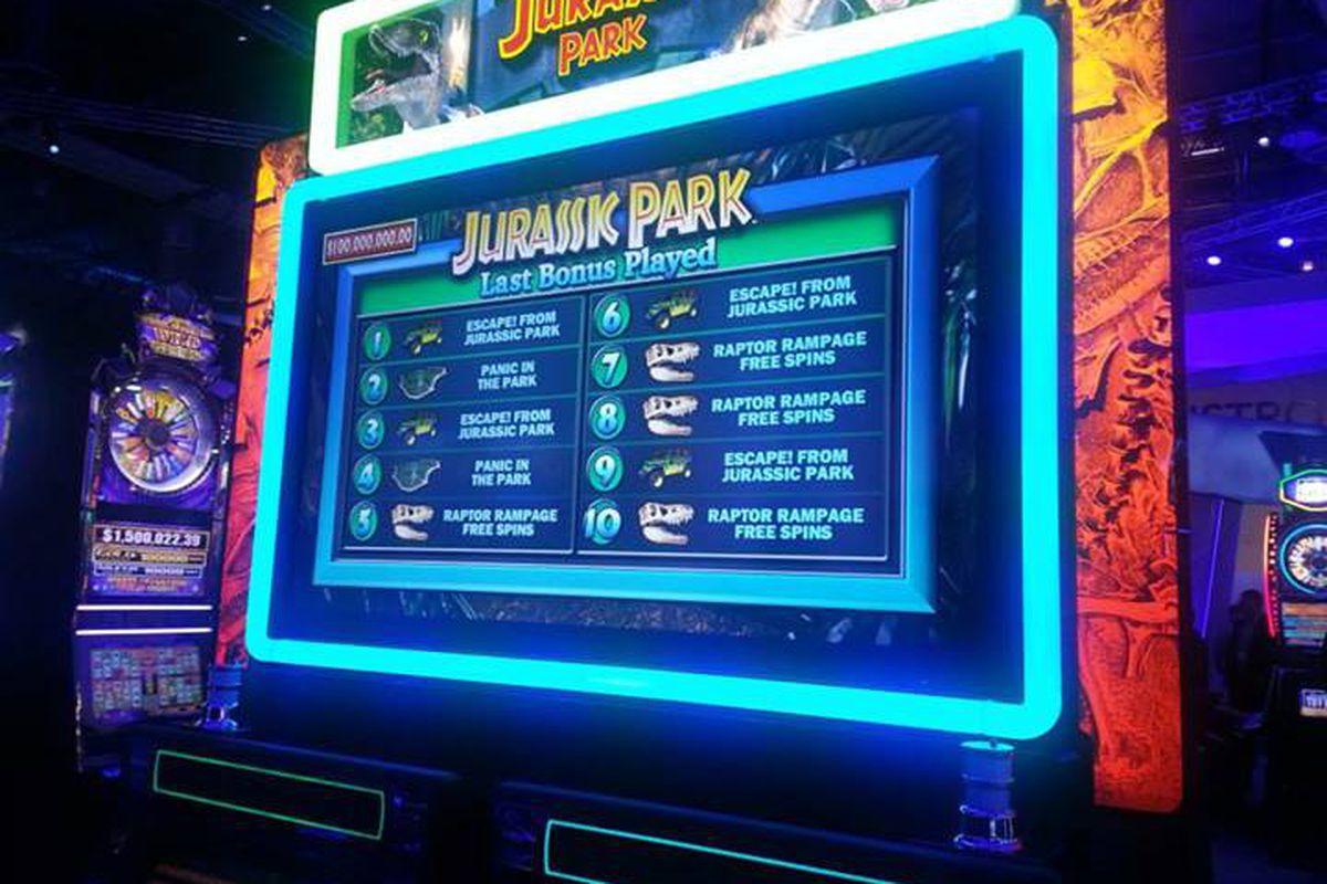 Jurassic Park slots (via IGT Facebook)