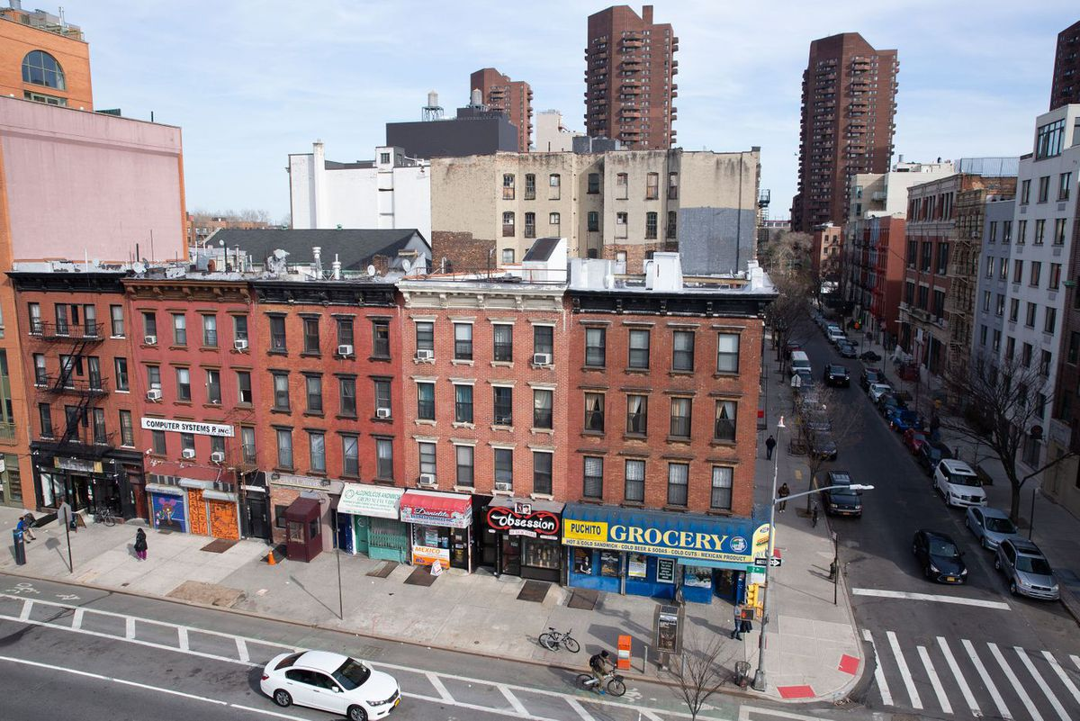 East Harlem residents may be forced out of multiple buildings on the east side of Second Avenue between 110th and 109th streets when the Q line is extended up to 125th Street, March 27, 2019.