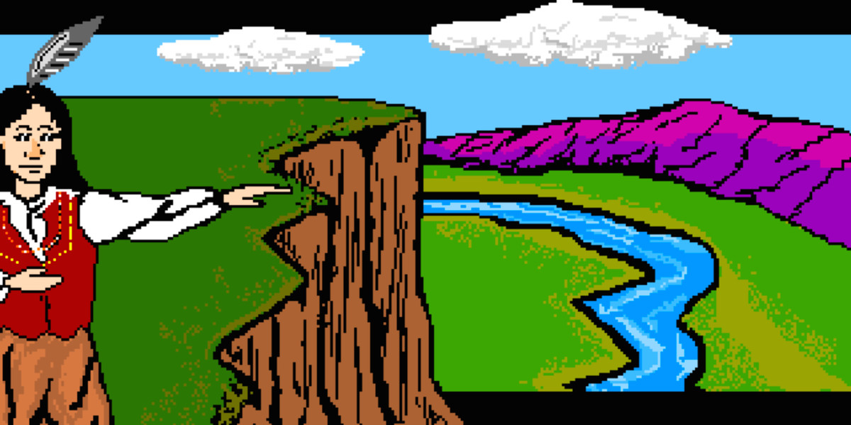 Trading with Native Americans in Oregon Trail
