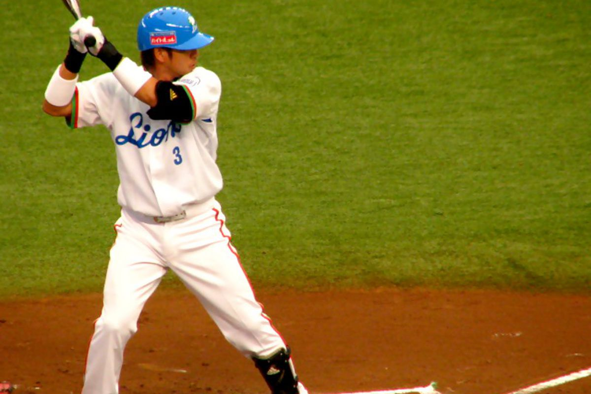 Hiroyuki Nakajima, shortstop for the Seibu Lions, is expected to be play in the MLB in 2012. Teams have until Friday afternoon to place bids on his negotiation rights. (Image courtesy of Flickr user boomer-44).