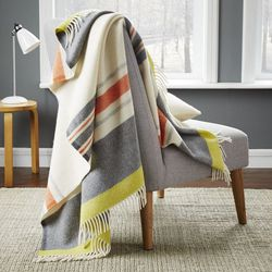"""Faribault Large Stripe Wool Throw, <a href=""""http://www.westelm.com/products/faribault-large-stripe-wool-throw-b1502/?pkey=cthrow-blankets&cm_src=throw-blankets
