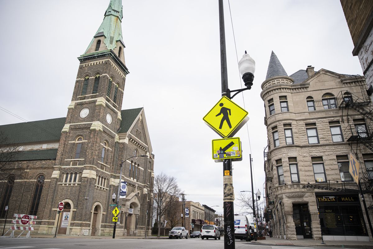 St. Procopius Catholic Church and Thalia Hall at Allport and 18th streets would be part of a special zoning district in Pilsen.