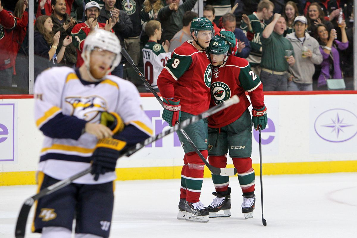 The Wild won! Hugs for everyone! Except for the Predators!