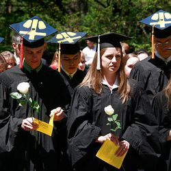 Students who opposed President Barack Obama's visit hold an alternative commencement ceremony at Notre Dame.