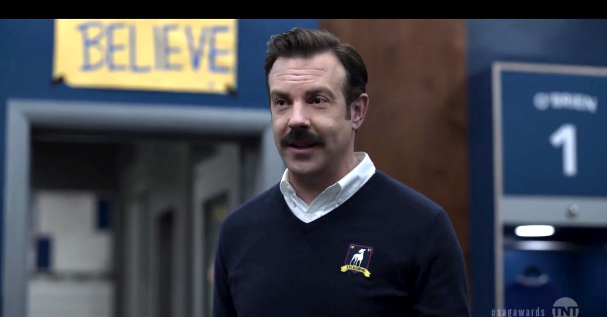 Ted Lasso's wardrobe is modeled after Jim Harbaugh