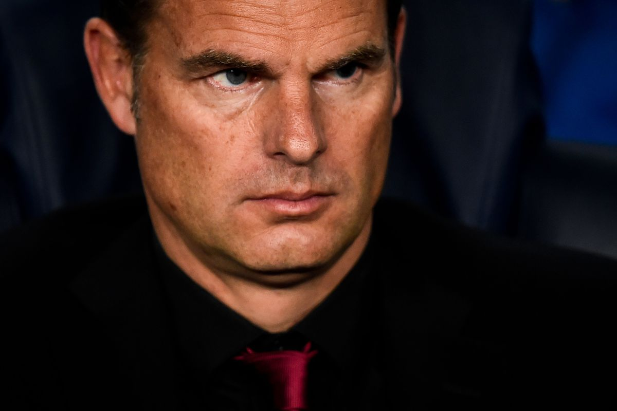 Frank de Boer reacts to being asked about interest in Newcastle United (allegedly)