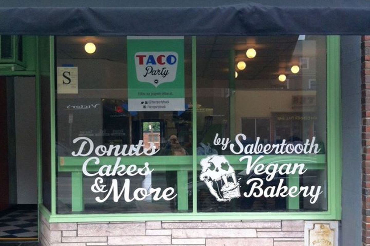 Taco Party & Sabertooth Bakery's storefront