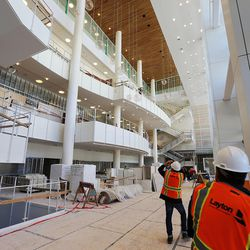 Work continues on the new George S. and Delores Dore Eccles Theater in downtown Salt Lake City on Tuesday, May 3, 2016.