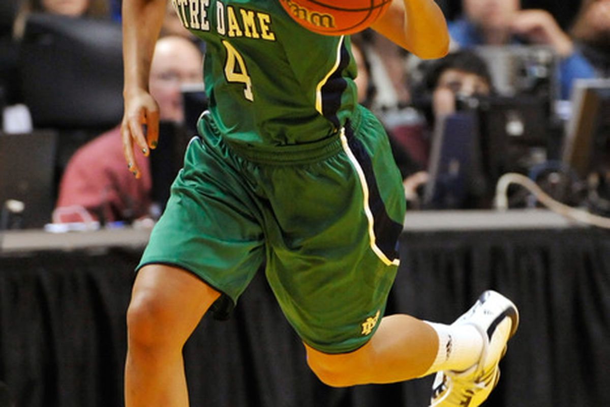 Skylar Diggins will look to lead the Irish past a formidable Terrapins squad  (Photo by Jamie Sabau/Getty Images)