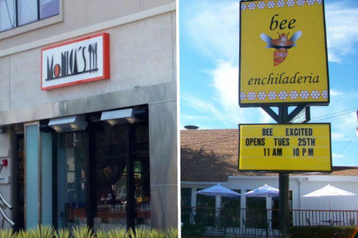 Monica's Nueva Cocina and BEE both went dark over the weekend.