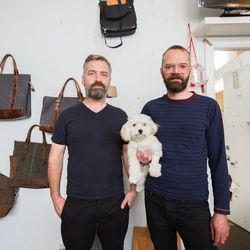 Designers Holger Gräf and Daniel Lantz with the resident boss lady.
