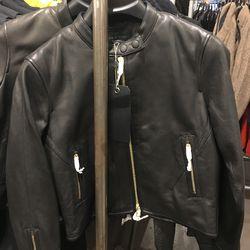Leather jacket, $495