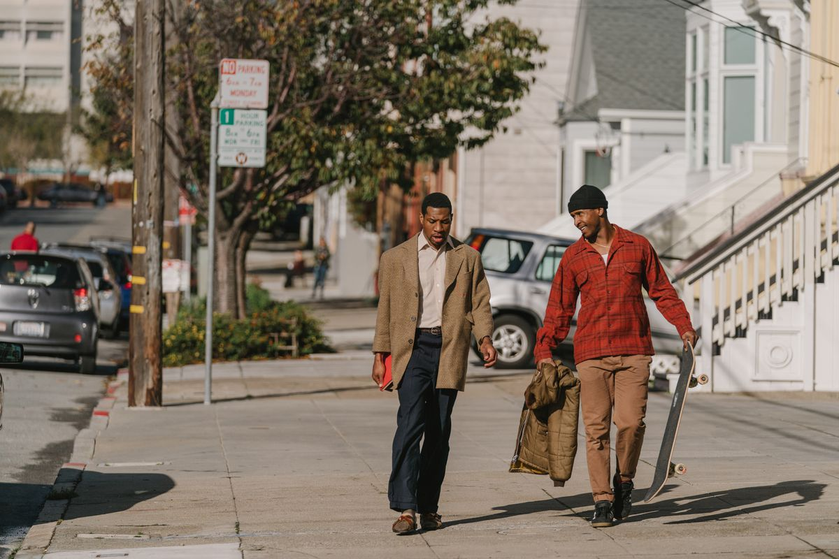 Jimmie Fails and Jonathan Majors appear inThe Last Black Man In San Francisco