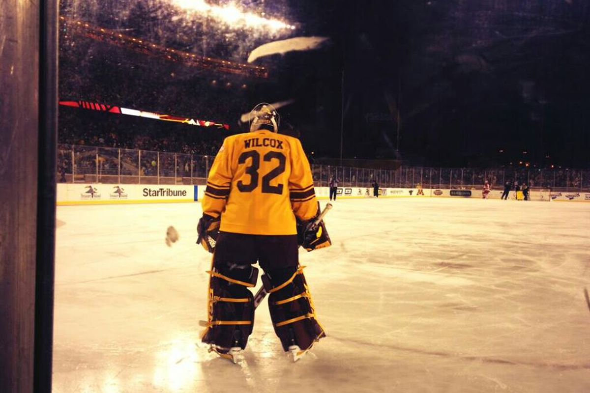 Minnesota goaltender Adam Wilcox, one of several Big Ten goalies that can steal the show this weekend
