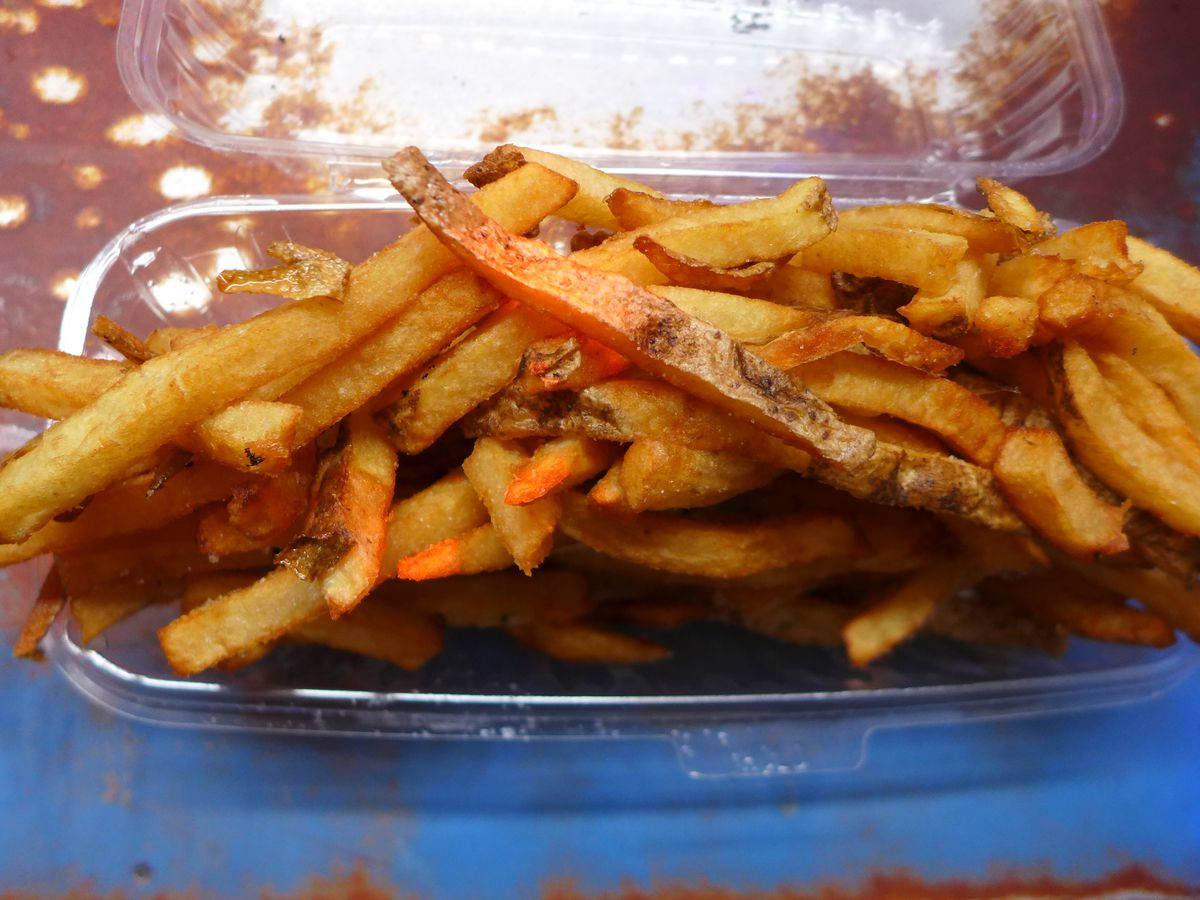 Twice cooked Belgian french fries