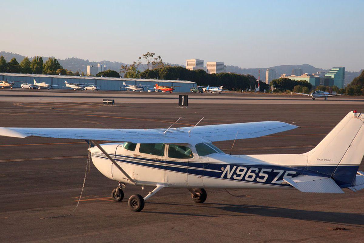 Plane at Santa Monica Airport