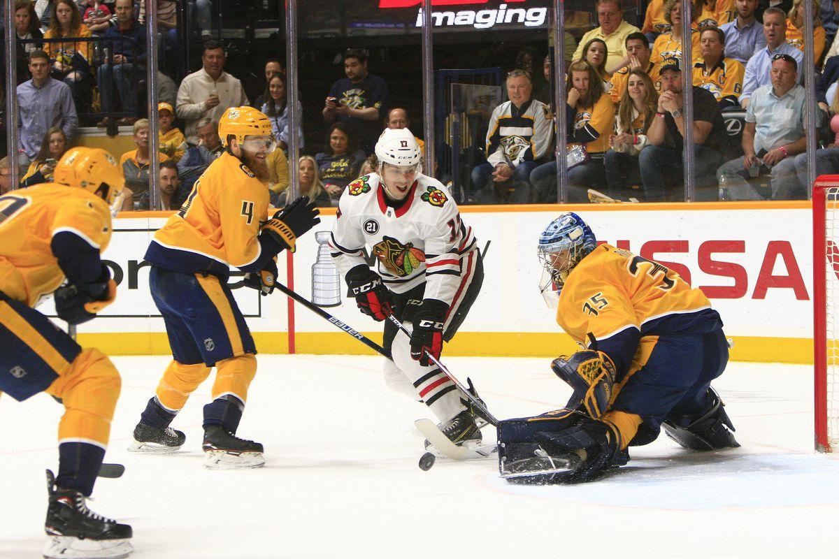 NHL: APR 06 Blackhawks at Predators