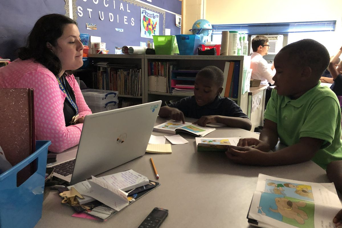 Third-graders worked on the fundamentals of reading during the second week of the 2019-2020 school year. As many as 5,000 struggling readers are at risk of being held back at the end of this year.