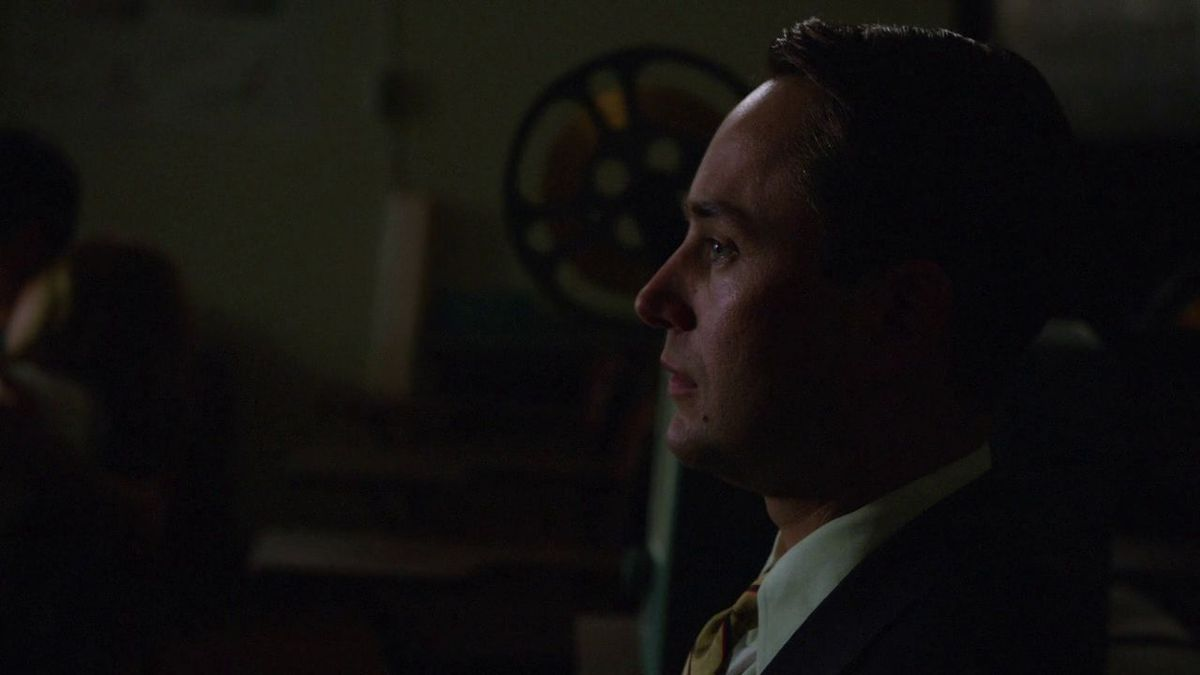 Pete in class on Mad Men.