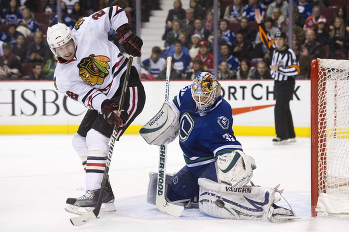 The only Canuck to actually play decently last night was probably the Schneids.  (Photo by Rich Lam/Getty Images)