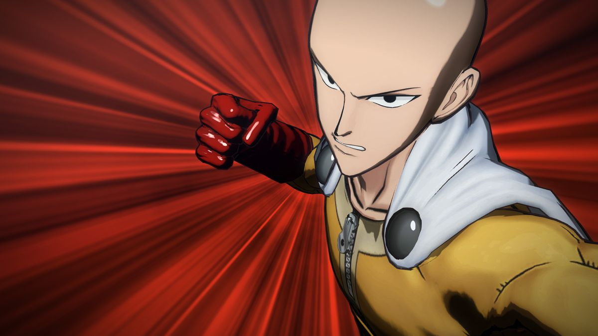 a man winding up his right hand for a special punch attack in One Punch Man: A Hero Nobody Knows,