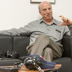 Ron Fraser and other officials of Multi-Voice in Provo talk Tuesday, Jan. 13, 2015, about a new technology that allows multiple users to communicate via walkie-talkie.