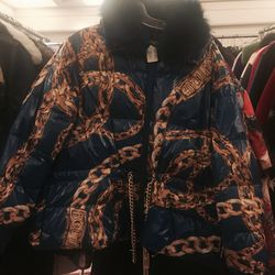 Moschino puffer jacket, $400