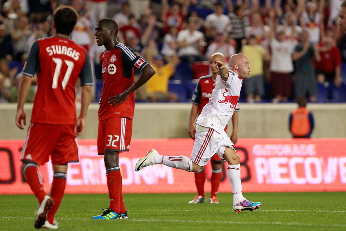 Rodgers and the Red Bulls ran riot against Toronto at RBA