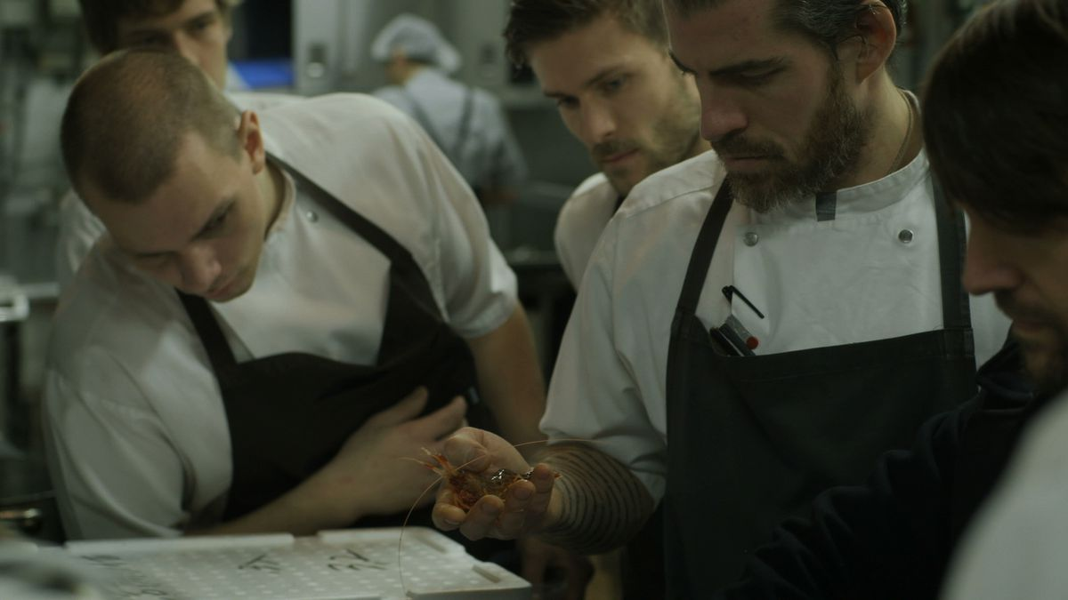 """Chefs in the kitchen in """"Ants on a Shrimp"""""""
