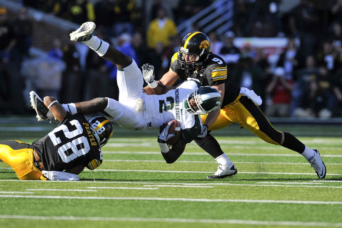 Prater did a whole bunch of this on Saturday. (Photo by David Purdy/Getty Images)