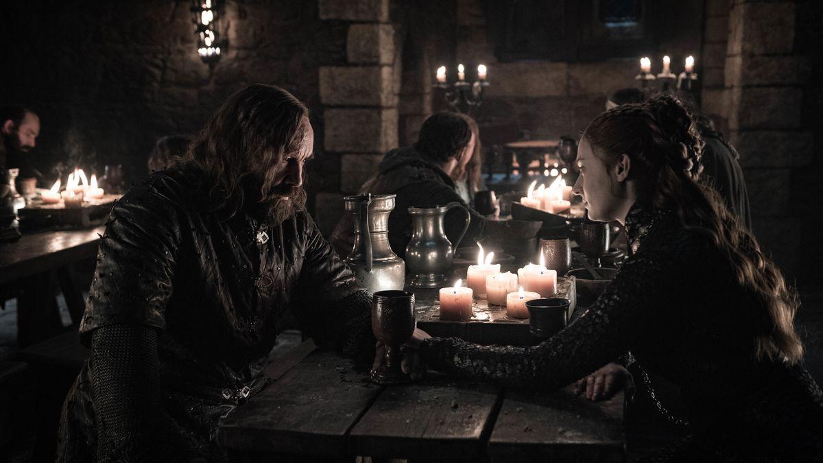 the hound and sansa game of thrones season 8 episode 4