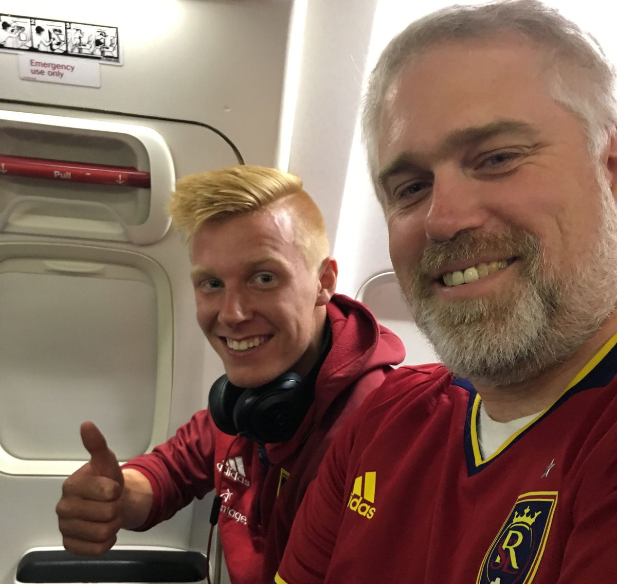 Mike Sanders meets Justen Glad on an airplane leaving NYC