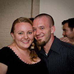 Tiffany MacIsaac and Kyle Bailey representing the Neighborhood Food Group.