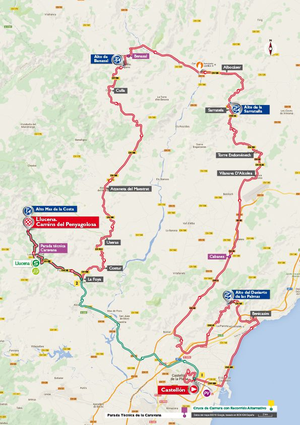 Stage 17 map vuelta